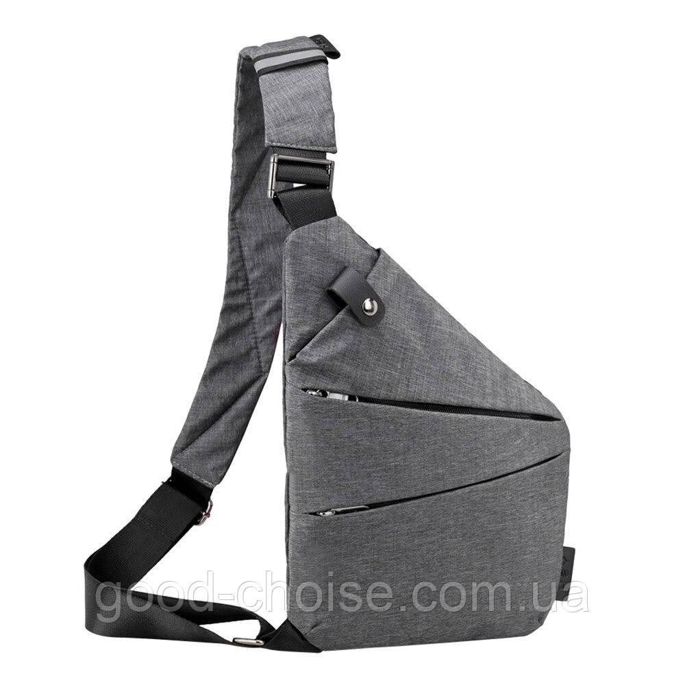 Мужская сумка мессенджер Cross Body 30х22х15 Серая