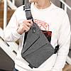 Мужская сумка мессенджер Cross Body 30х22х15 Серая, фото 9
