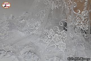 Свадебный платок с жемчугом Люси, фото 3