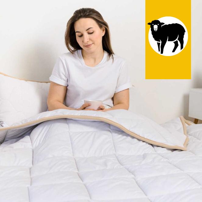 Одеяло с шерсти Мериноса Всесезонное Goodnight.Store 100х140 см (цвет белый)