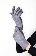 Перчатки FAMO Женские перчатки Глитс серые L L (1-69)