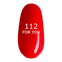 Гель-лак For You № 112 (модный розовый коралл, эмаль) , 8 мл