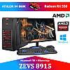 Недорогой Cовременный Игровой ПК ZEVS PC 8915 (Varian) Athlon X4 860K +RX 550 4GB + Монитор 21.5''
