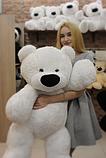 Плюшевый Медведь Бублик Алина 110 см белый, фото 3