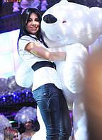 Большой плюшевый Медведь Бублик 180 см белый, мишка плюшевый