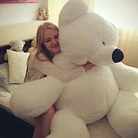 Большой плюшевый медведь Бублик 200 см белый, плюшевый мишка