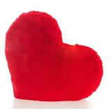 Плюшевая подушка Сердце Красный 22см, фото 3