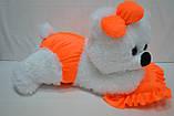 Алина Плюшевая мишка Малышка 45 см белый с оранжевым, фото 3