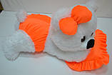 Алина Плюшевая мишка Малышка 45 см белый с оранжевым, фото 4