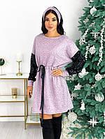 Женское стильное платье с 42 по 48 рр ангора софт + пайетки на подкладке
