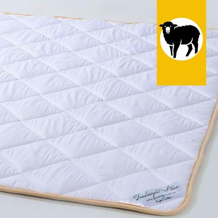 Одеяло с шерсти Мериноса Всесезонное Goodnight.Store 100х140 см (цвет белый), фото 2