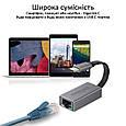Переходник Promate GigaLink-C USB Type-C/Ethernet 1Гбит/с Grey, фото 5