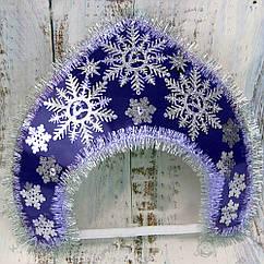 Корона кокошник Зимние чудеса синий