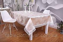 Скатерть на праздничный стол Узоры 3D 120-152 Праздничная