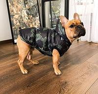 Зимний Жилет Militari с капюшоном на флисовой подкладке для собак (модель Унисекс)
