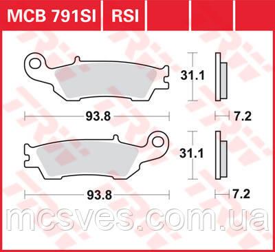 Комплект задних тормозных колодок TRW Sinter RSI