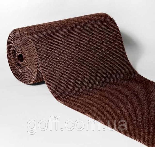 Щетинистое покрытие коричневое - коврик под дверь торгового центра