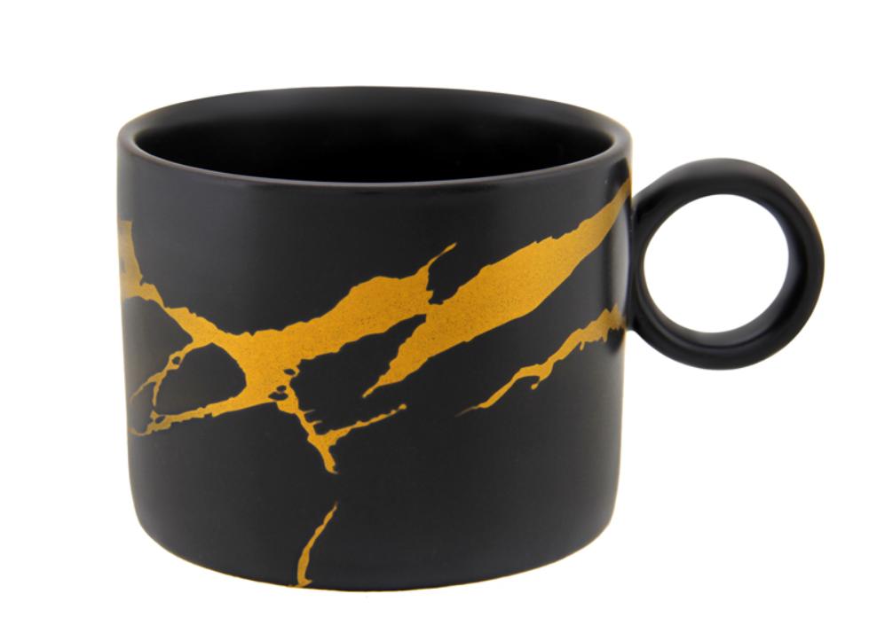 """Фарфорова Чашка, коричнева """"Я самий чудовий ангел"""" Gapchinska, 270мл"""