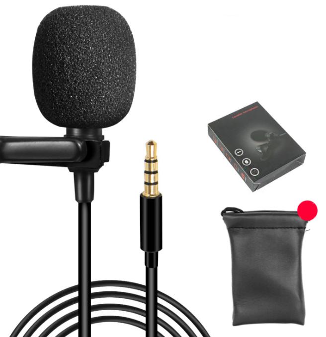 Петличный микрофон для смартфона на 1.5 метра (3.5mm 4 pin)
