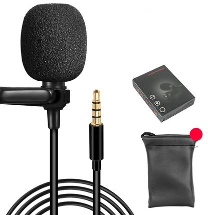 Петличный микрофон для смартфона на 1.5 метра (3.5mm 4 pin), фото 2