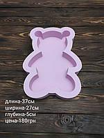 Пенобокс - коробка для подарков и цветов Мишка Тедди розовый
