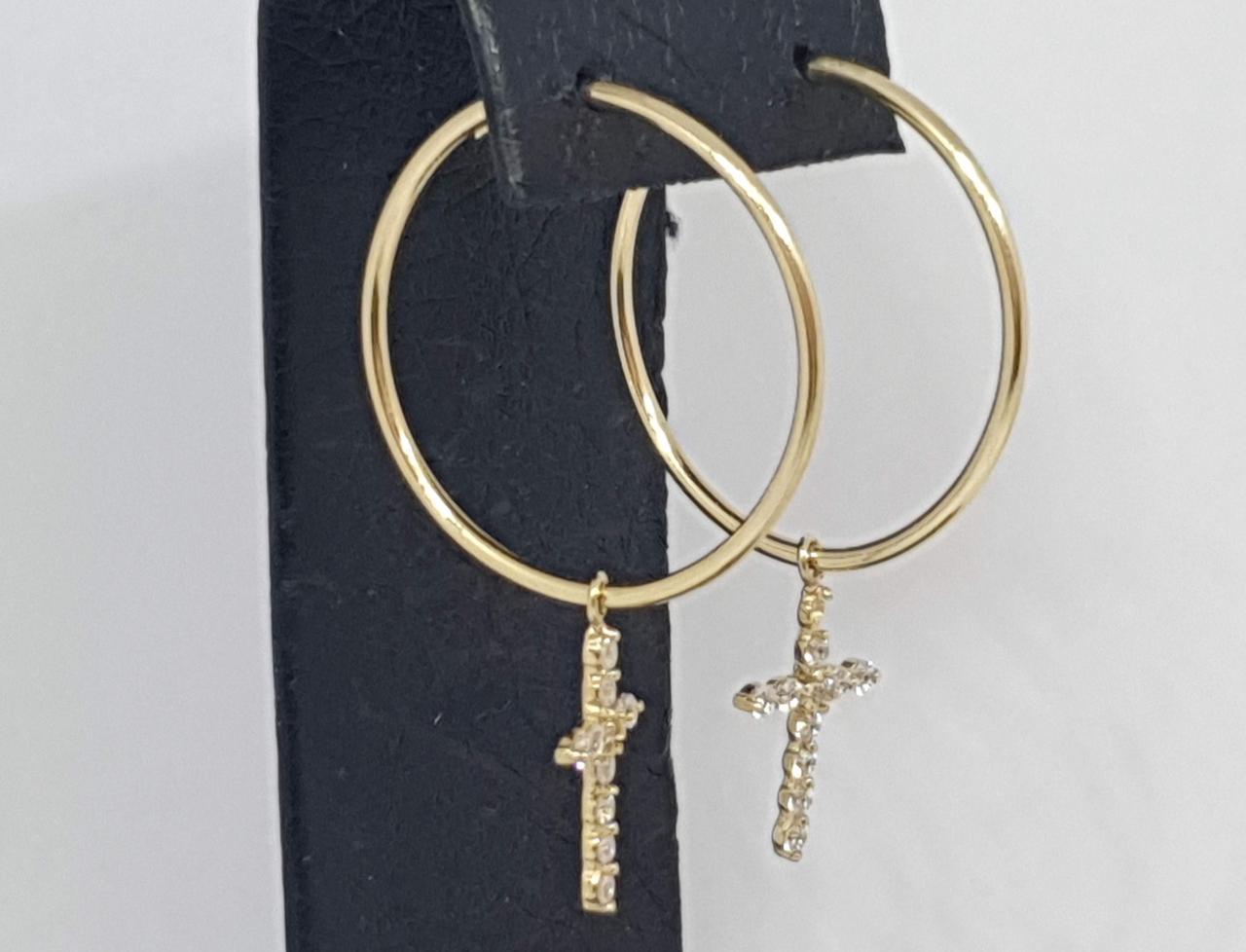 Золотые серьги-кольца . Артикул СВ909ЛИ