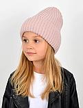 Детская зимняя теплая шапка для девочки, фото 4