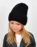 Детская зимняя теплая шапка для девочки, фото 3