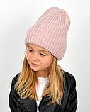 Детская зимняя теплая шапка для девочки, фото 5