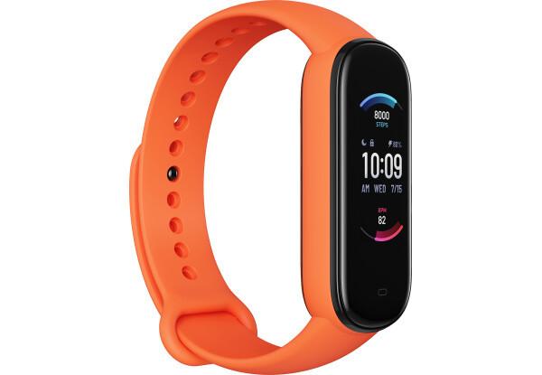 Фитнес-браслет Amazfit Band 5 Orange счетчик калорий, шагомер, пульсометр, голосовой помощник