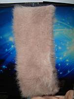 Зимняя ангоровая повязка на головубежевого цвета, фото 1