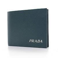 Чоловічий маленький шкіряний гаманець 3696с синій з натуральної шкіри