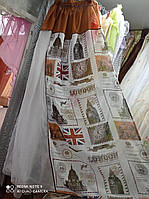 Тюль лен два подхвата на окно 2.80м / 1.70м от tyulnadom