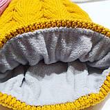 Детская зимняя теплая шапка для девочки, фото 2