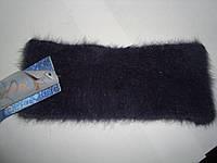 Зимняя ангоровая повязка на голову серого цвета, фото 1