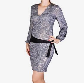 Платье микромасло с поясом (WZ1515) | 3 шт.