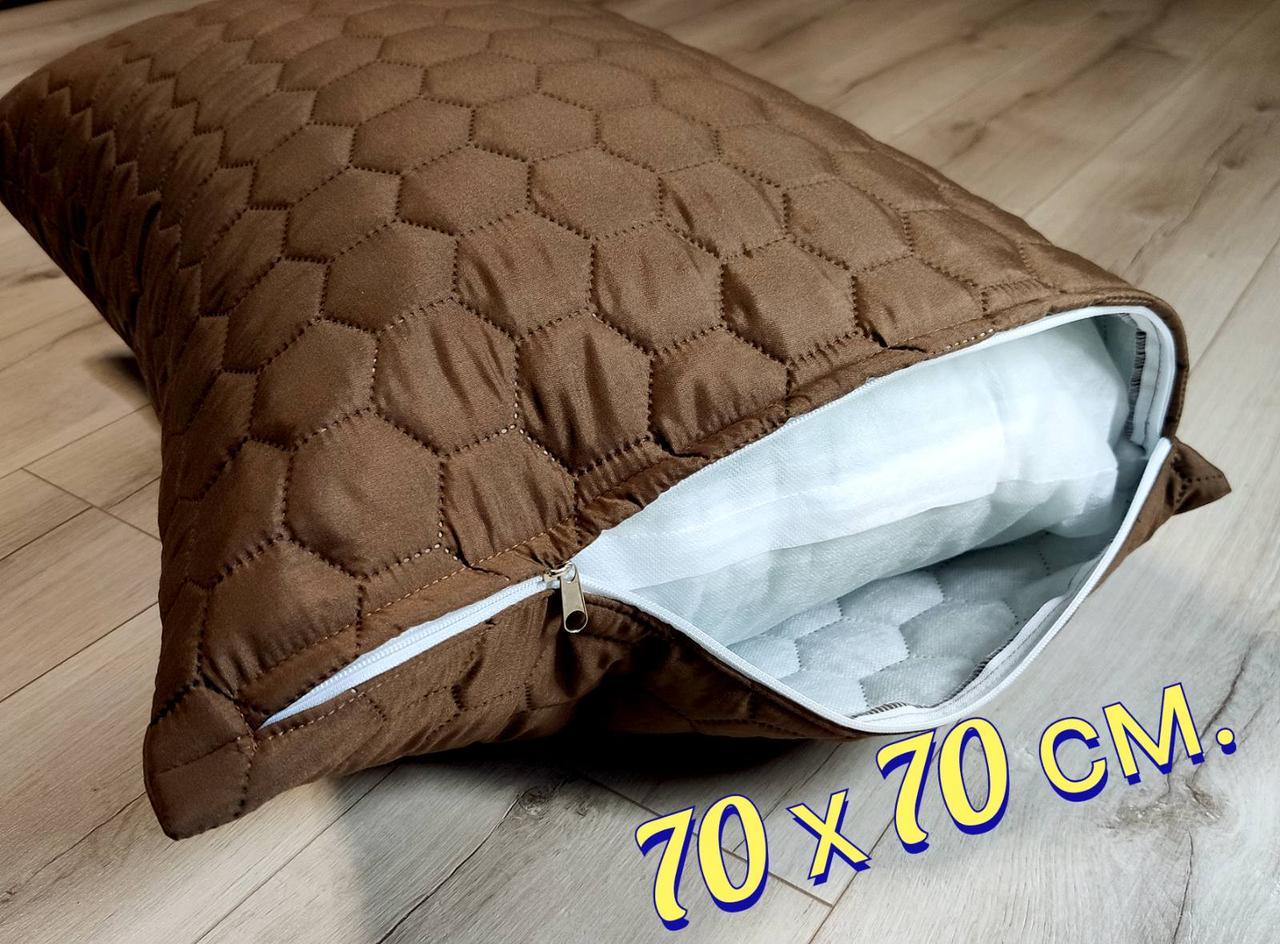 Чехол на подушку 70х70 см. Коричневый
