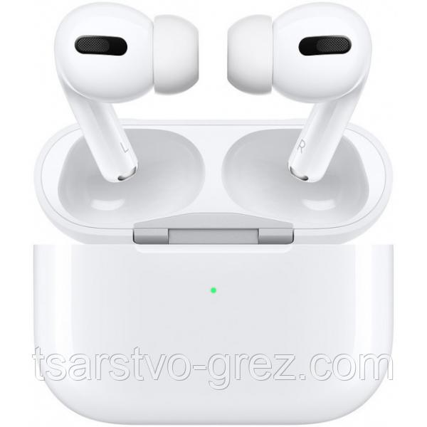 Беспроводные Bluetooth наушники AirPro в зарядном кейсе, белые