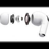 Беспроводные Bluetooth наушники AirPro в зарядном кейсе, белые, фото 6