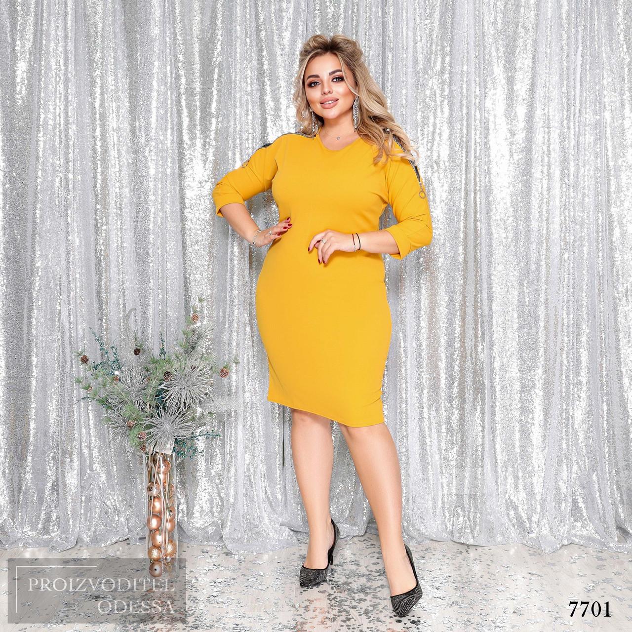 Платье облегающее креп-дайвинг+кружево 48-50,52-54,56-58,60-62