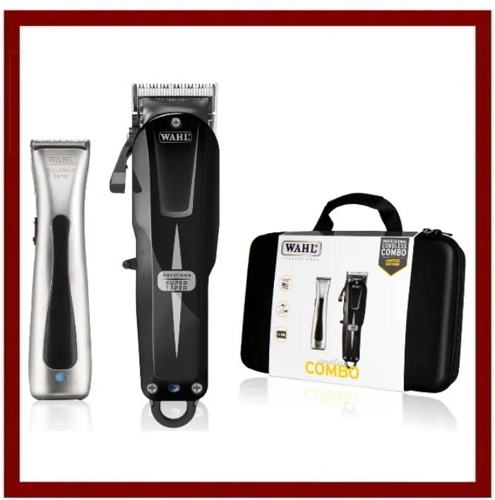 Набор машинок Wahl Cordless Combo: Super Taper Cordless Black + Beret ProLith в кейсе 08592-016H