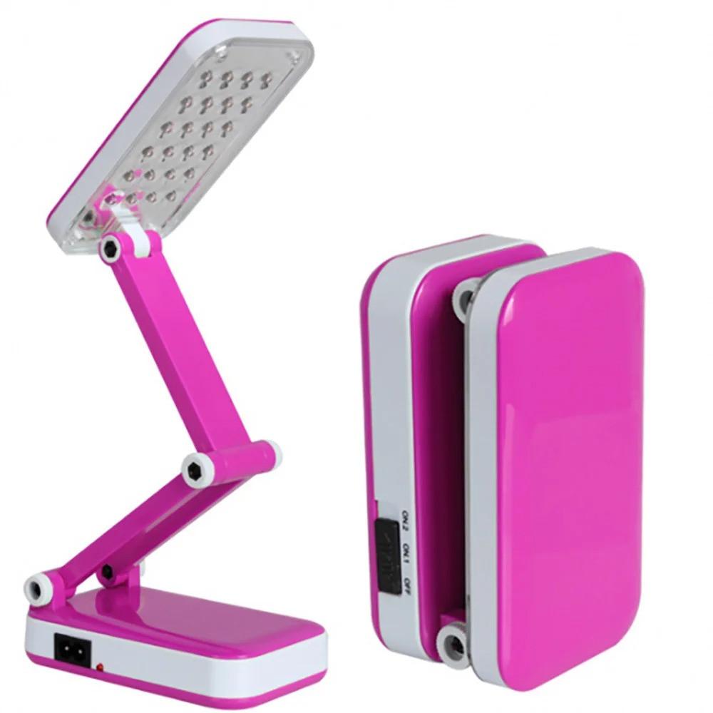 Лампа светодиодная аккумуляторная настольная трансформер складная Kamisafe KM 6686C Pink (0193unk)