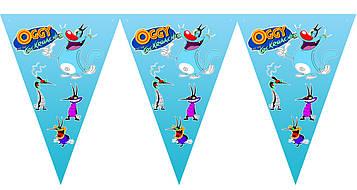 """""""Оггі та Кукарачі"""" - Вимпел Трикутники, 15 прапорців."""