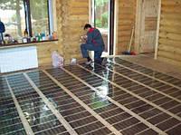 Монтаж плівкового теплої підлоги