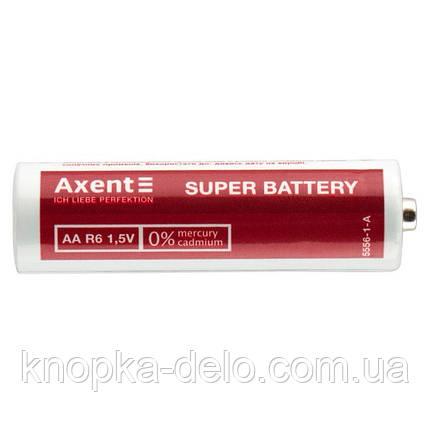 Батарейки AXENT АА R6 1.5V, 4 шт. (солевые), фото 2