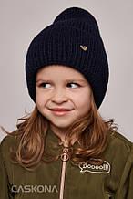 Детская зимняя теплая шапка для девочки