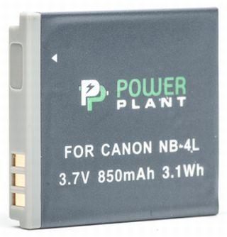 Акумулятор PowerPlant Canon NB-4L 850mAh