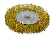 Щетка крацовка дисковая, латунная, 115х16мм