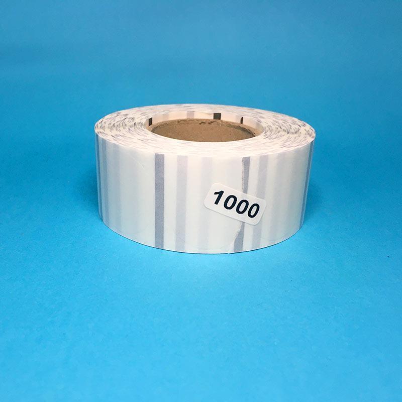 Поліпропіленова етикетка 50×50мм (кругла, прозора, чорна мітка 1000 шт.)