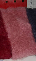 Зимняя ангоровая повязка на голову грязно розового цвета, фото 1